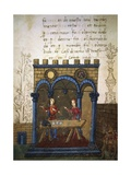 Betting on the Game of Dice, Miniature from the Treatise on Arithmetic Giclee Print by Filippo Carcano