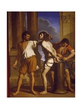 The Scourging of Christ, 1657 Giclee Print by Giovanni Francesco Barbieri