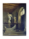 The Sculptor Caggiano's Studio with Statue of Victory Giclee Print by Francesco del Cossa