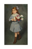 Girl with Flowers, 1905-1915 Giclee Print by Federico Zandomeneghi