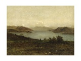 View of Lake Maggiore Giclee Print by Filippo Carcano