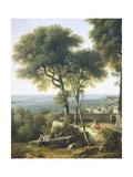 Panorama of Genoa and the Port, 1825 Giclee Print by Giuseppe Borsato