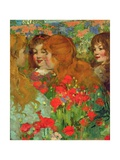 The Poppies Giclee Print by George Frederic Watts