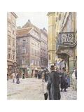 Austria, Vienna, Jewish Quarter in Vienna, 1906 Giclee Print by Franz Richard Unterberger