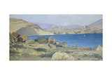Panorama of Athens from Piraeus Giclee Print by Guglielmo Ciardi