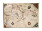 Weltkarte Giclée-Druck von Giorgio Vasari