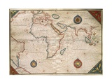 World Map Giclee Print by Giorgio Vasari
