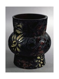 Vase in Black Glass, 1890 Giclee Print by Ernesto Rayper