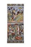 Betrayal of Jesus Christ and Jesus before Pilate, 1491 Giclee Print by Giovanni Canavesio