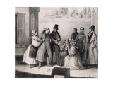 Scene from Performance of Old Goriot, from Novel by Honore' De Balzac Giclee Print by Frederick Calvert