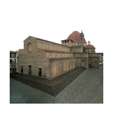 Basilica of San Lorenzo, Florence, 1419 Giclée-tryk af Filippo Brunelleschi