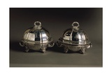 Pair of Silver Covered Dishes, Engraved with Coat of Arms, 1821 Giclee Print by Robert Lefevre