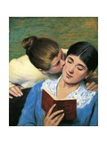 The Kiss, Interrupted Reading, 1893 Giclee Print by Federico Zandomeneghi