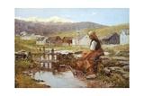 Herdsmen Huts at Macugnaga, 1895 Giclee Print by Leonardo Bistolfi