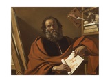 St Luke Giclee Print by Giovanni Francesco Barbieri