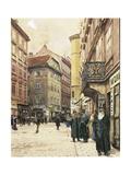 Vienna, the Jewish Quarter, 1905 Giclee Print by Franz Poledne