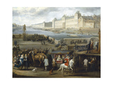 The Louvre Seen from the Pont-Neuf, 1666, Detail Giclee Print by Hendrik Goltzius