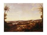 Brazilian Landscape with Plantation, Brazil Giclee Print by Franz Poledne