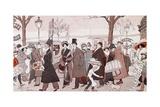 The Boulevard, 1913 Giclee Print by Leopoldo Metlicovitz