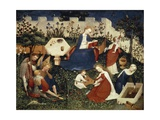 Virgin in Garden of Paradise, Circa 1420 Giclee Print by Harold Copping