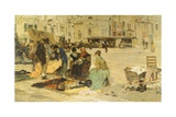The Saturday Market in Campo San Paolo, Venice, 1882-1883 Giclee Print by Giacomo Favretto