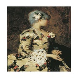 18th Venetian Lady, Circa 1883 Giclee Print by Giacomo Favretto