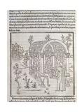 Hypnerotomachia Poliphili, Study for Garden, 1499 Giclee Print by Francesco Colonna