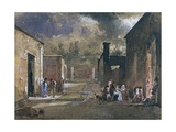 A Night Menal in Sallustio's House in Pompeii Giclee Print by Giacinto Gigante