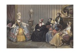 Arrangements for the Ball at the Opera Giclee Print by Eugene Roger