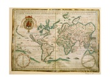 Hydrographic General Map, 1634 Giclee Print by Jean Restout II
