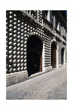 Front Elevation of Diamanti Palace, Macerata, Marche, Italy Giclee Print by Giulio Carpioni