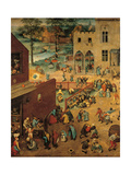 Children's Games, 1560 Giclee Print by Pieter Bruegel the Elder