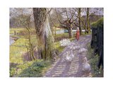 The Path by the Mill Pond, 1900 Giclee Print by Richard Parkes Bonington
