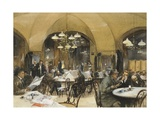 Griensteidl Cafe' in Vienna, 1896 Giclee Print by Richard Caton Woodville