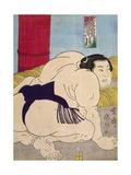 Sumo Wrestler Giclee Print by Valdemar Kornerup