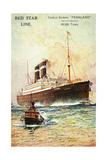 Künstler Red Star Line, Dampfschiff Pennland Giclee Print