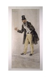 Character of Tecoppacreated by Milanese Actor Edoardo Ferravilla in 1874 Giclee Print by Tranquillo Cremona