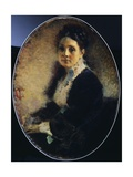 Portrait of Mrs Deschamps, 1875 Giclee Print by Tranquillo Cremona