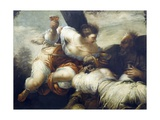 Lot and His Daughters Giclée-tryk af Sebastiano Ricci