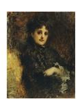 Portrait of Emma Ivon Giclee Print by Tranquillo Cremona