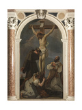 Crucified Christ with Saints Anthony of Padua, Madeleine and Valentine Giclée-tryk af Sebastiano Ricci