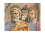 Saint Peter's Face, Detail from Saint Peter Healing the Sick Giclee Print by Tommaso Masaccio