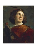 The Falconer, 1859 Giclee Print by Tranquillo Cremona