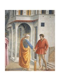 Peter and John, Detail from the Tribute Money Giclee Print by Tommaso Masaccio