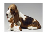 Basset Hound and Puppy Giclee Print by Sandro Nardini