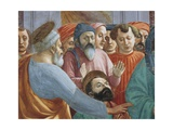 Saints and Crowd, Detail from the Raising of the Son of Theophilus Giclee Print by Tommaso Masaccio