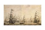 Dutch Fleet, 1672 Giclee Print by William Affleck
