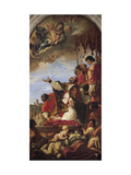 Intercession of Our Lady by Pope Gregory the Great, 1699 Giclée-tryk af Sebastiano Ricci