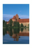 Lithuania, Trakai Historical National Park, Lake Galves and Red Brick Gothic Castle Giclee Print