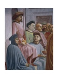 Miracle of Theophilus, Detail from the Raising of the Son of Theophilus Giclee Print by Tommaso Masaccio